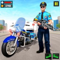 Police Moto Bike Chase Crime Shooting Games