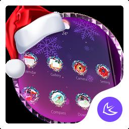 Purple Dream Christmas- APUS Launcher Free Theme