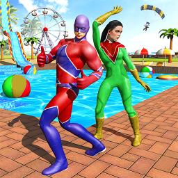 Super Hero Water Adventure Park Slide