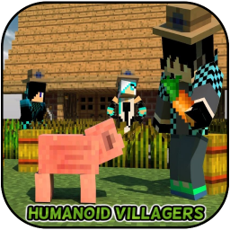 Humanoid Villagers Mod for MCPE + Come Alive