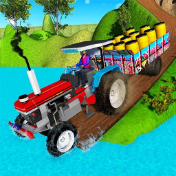 Indian Tractor Trolley Off-road Cargo Drive Game