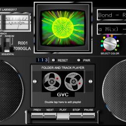 GVC 7090 GLA folder player VU-meter visualization