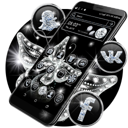 Glassy Butterfly Launcher Theme