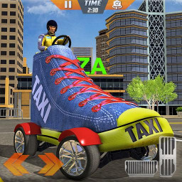 Shoes Taxi Driving Simulator: City Ride
