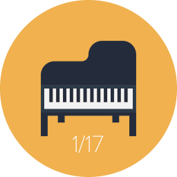 پیانو آکوستیک(با صدای واقعی)