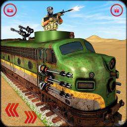US Army Train Gunship Attack : Train Driving Games