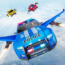 Flying Police Car Chase: Flying Car Simulator