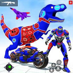 Flying Dino Bike Robot Games