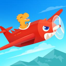 Dinosaur Plane - Plane piloting game for kids