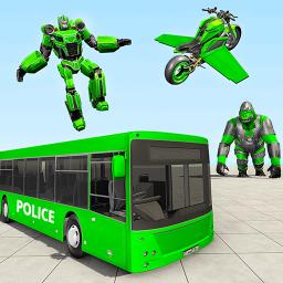 Bus Robot Transforming Game - Gorilla Robot Game