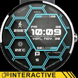 Hex Watch Face & Clock Widget