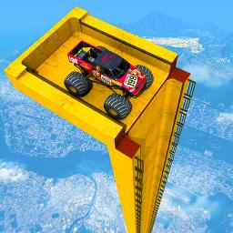 Mega Ramp Monster Truck Driving Stunts Racing Game