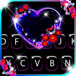 Bubble Heart Keyboard Background