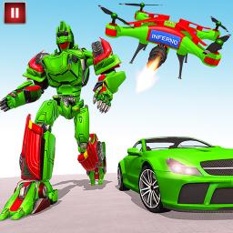 Drone Robot Transforming Games: Robot Car Games