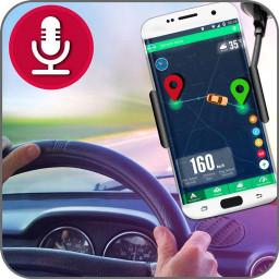 Voice Gps navigation maps: HUD speedometer