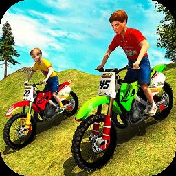 Kids Downhill Mountain Motorbike Riding