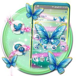 Butterfly Glitter Launcher Theme
