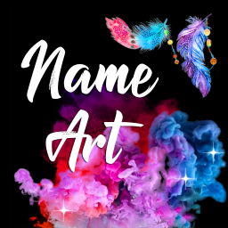 Name Art Maker 🖍️ Write Text on Background