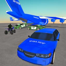 US Police Limo Transport: Plane Transporter Game
