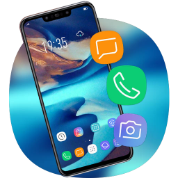 Colorful theme Galaxy A80 launcher HD