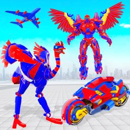 Flying Bike Ostrich Robot Game