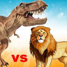 Lion vs Dinosaur Animal Simulator Game