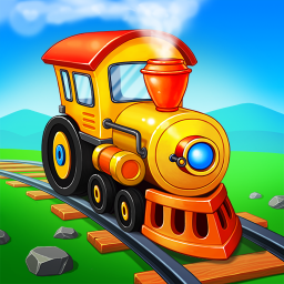 Train Games for Kids: station & railway building