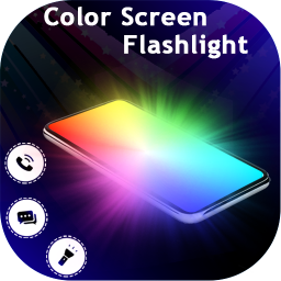 Color Screen Flashlight :  Flash on Call & SMS