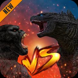 Godzilla & Kong 2021: Angry Monster Fighting Games