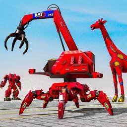 Spider Crane Robot Car Game – Giraffe Robot Games