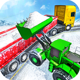 Offroad Snow Trailer Truck Driving Game 2020