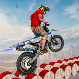 Superhero mega ramp bike games