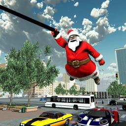 Crime City Simulator Santa Claus Rope Hero