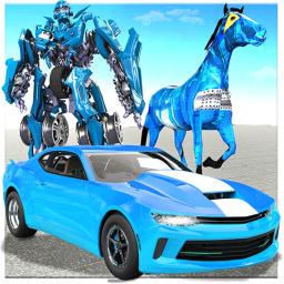 US Police Horse Robot Transformation: Robot Car 3D