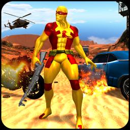 Superhero shooting battleground