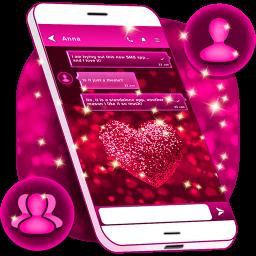 Glitter Love SMS Themes
