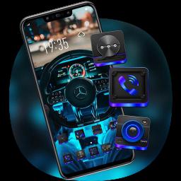Tech Sense Steering Wheel Car Theme