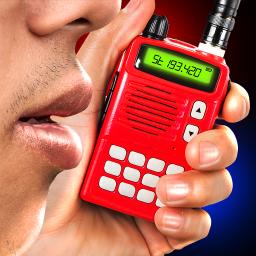 Portable police walkie-talkie joke game