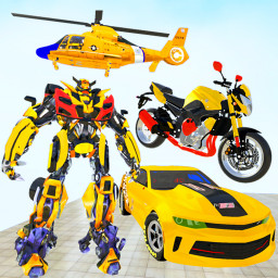 Flying Helicopter Robot Car Transform Shooting War