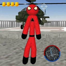 Stickman Spider Rope Hero Gangsters City