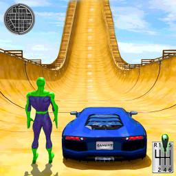 Superhero Mega Ramps: Crazy Car Stunt Races