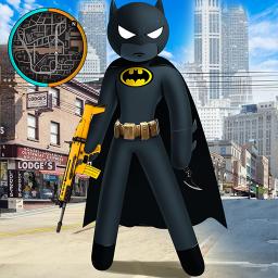 Neon Stickman Rope Hero Spider Gangstar Crime