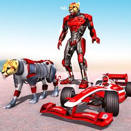 Cheetah Robot Car Transformation Formula Car Robot
