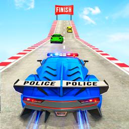US Police Car Stunts 2020: Ramp Car Games
