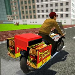 Virtual Moto Bike Delivery Boy: Pizza Car Driver