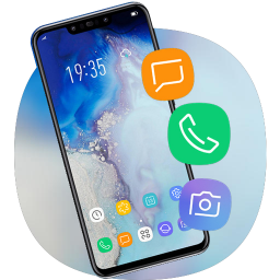 Blue Jade theme one plus 7 hd note 10 launcher