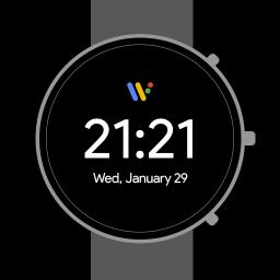 Pixel Minimal Watch Face