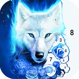 Wolf Coloring Book: Free paint by number offline