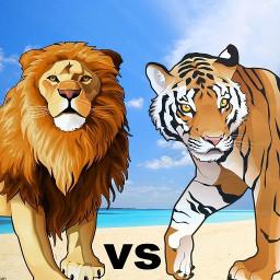 Lion Vs Tiger Wild Animal Simulator Game