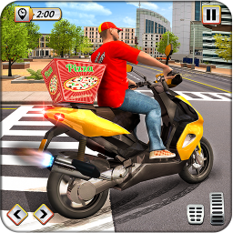 Delivery Pizza Boy Driving Simulator New Bike Game